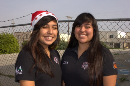 ITA students, Flor and Mayra pose for a quick photo.