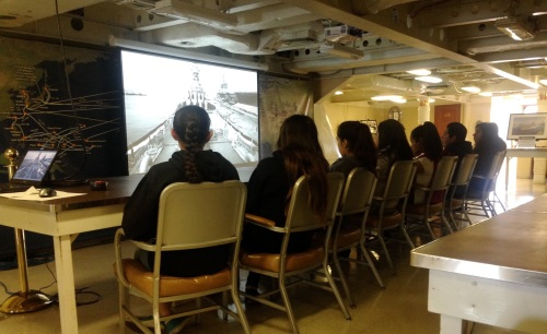 First adventure aboard the USS Iowa in San Pedro, CA. Students received an overview of the history of the battleship and tested their knowledge of the metric system.